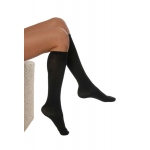 DermaSilk Comfort Long Socks black